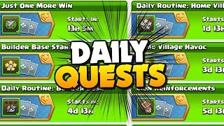 DAILY QUESTS in Clash of Clans!! NEW Events Coming SOON! TH12 Farm to Max ep 8