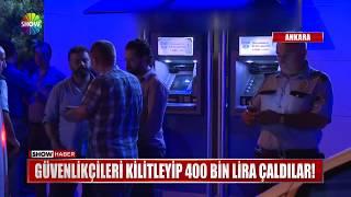 Güvenlikçileri kilitleyip 400 bin lira çaldılar!
