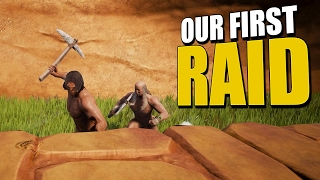 OUR FIRST RAID AND OUR FIRST SLAVE! (Conan Exiles Co-Op Survival) #3