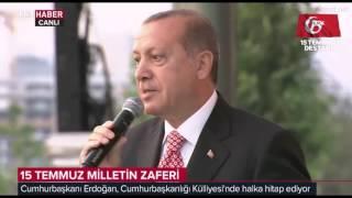 Erdoğan'ın 15.Temmuz.2017 sabahı Şehitler Anıtı açılışındaki konuşması / 15 Temmuz'un 1. Yıldönümü