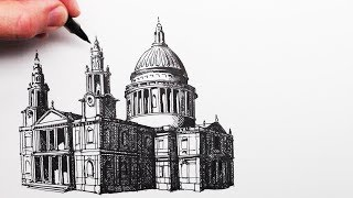 How to Draw a Cathedral: St.Paul's Cathedral London: Buildings in Perspective