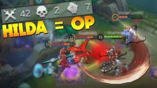 Mobile Legends Hilda The Best Hero? (Full DMG Build Gameplay)