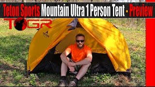 Teton Sports Mountain Ultra 1 Person Tent - Preview