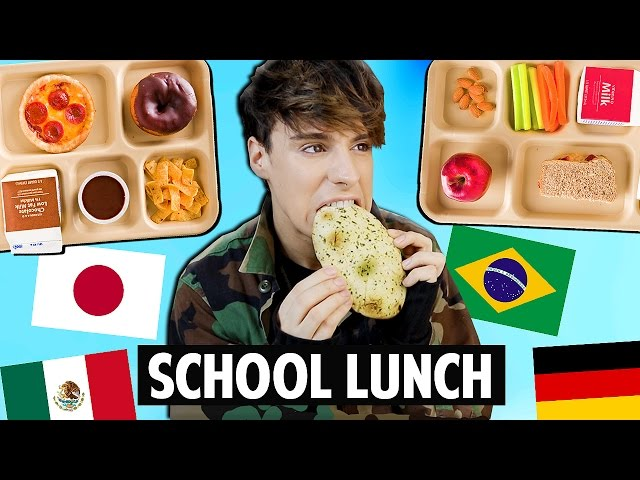 Trying SCHOOL LUNCH Around The World