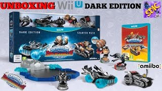 UNBOXING Skylanders SuperChargers WiiU DARK EDITION with Donkey Kong, Kaos Trophy, Spifire
