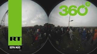 VIDEO EN 360º: Desmantelan 'La Jungla' y trasladan a los refugiados