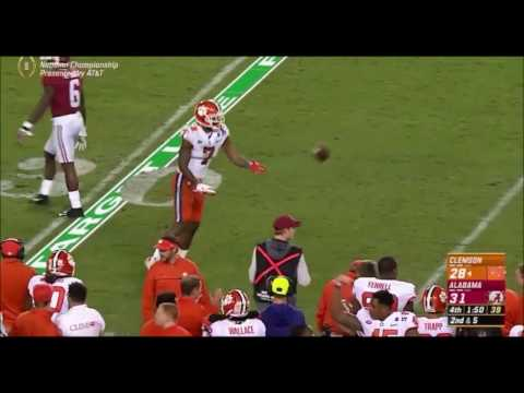 Mike Williams INCREDIBLE Catch On Clemson Game Winning Drive