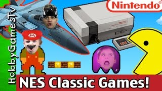 New NINTENDO Discontinued Classic Console GAME Play w/ HobbyKids+PacMan, Mario Fun HobbyGamesTV