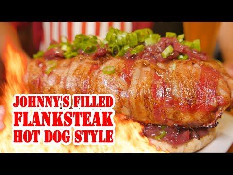 Xxx Mp4 Filled Flanksteak Hot Dog Style BBQ Grill Rezept Video Die Grillshow 251 3gp Sex