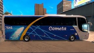 ETS2 Ônibus Cometa Marcopolo Paradiso 1200 G6 4x2 toco. Traveling by bus . Ets2 Versão 1.31