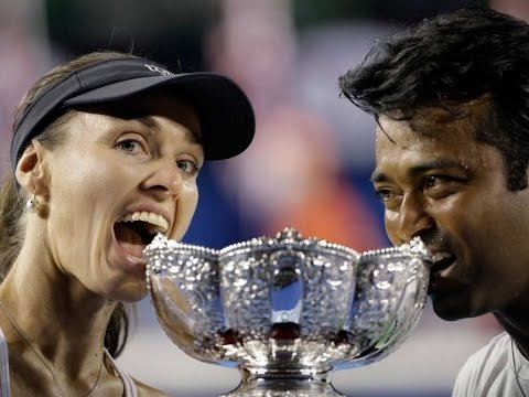 Leander Paes Martina Hingis Win Australian Open Mixed Doubles Title