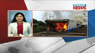 Protesters Set Wine Shop On Fire In Balangir