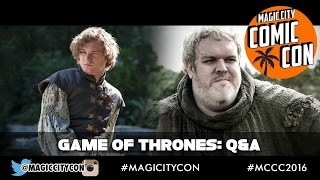 Game of Thrones Q&A with Kristian Nairn and Finn Jones at Magic City Comic Con Jan 2016