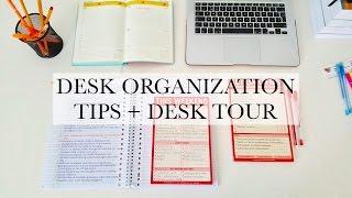 5 DESK ORGANIZATION TIPS + DESK TOUR - study tips