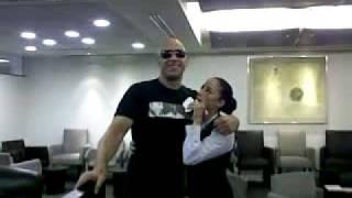 Vin Diesel en el aeropuerto internacional  de la ciudad de mexico (aicm)