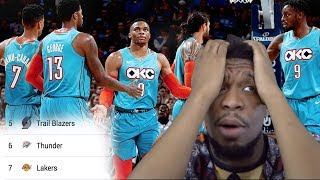 WOW CANT EVEN STAY IN 1ST ONE DAY… THUNDER vs NUGGETS HIGHLIGHTS