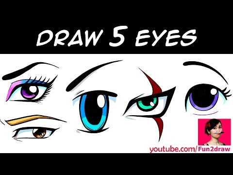 HOW TO DRAW 5 EYES Art Drawing Tutorial