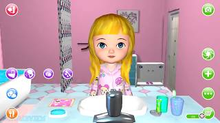 Fun Baby Care - Ava the 3D Doll Kids Game Bath Dress Up Feed Dance & Learn Colors Gameplay