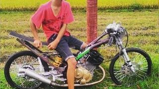Satria FU 200CC Tune Up jokine Papan Atas Drag Bike Indonesia 2017