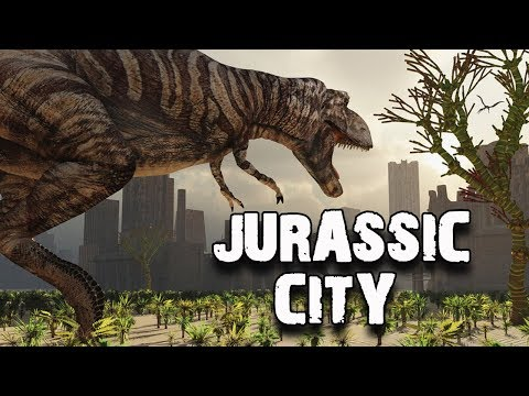Dinosaur Attacks A Hot Young Lady - Crazy Hollywood Action - Jurassic City Movie