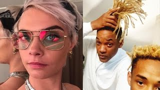 Cara Delevingne & Jaden Smith Debut Drastic SHAVED Heads For Upcoming Movie Roles