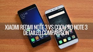 Xiaomi Redmi Note 3 vs Coolpad Note 3- Detailed Comparison