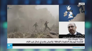 """رامي عبد الرحمن - حول الاشتباك بين فصائل """"درع الفرات"""" وقوات النظام بالقرب من تادف"""