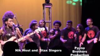 Nik(Nikki) West and some of Stax Music Academy singersSingers