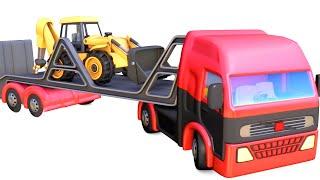 Heavy load trucks toys for kids   Excavators, Dump Trucks, Fire trucks compilation tayo - jugnu kids