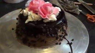Art Of Making Beautiful Rose Chocolate Cake... Mumbai, Maharashtra, India.