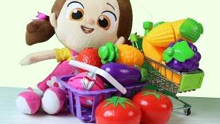Niloya Pazar Alışverişinde Sebzeler ve Meyveler ile Yemek Hazırlıyor - Niloya Çizgi Film