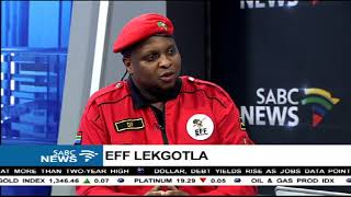 Floyd Shivambu on the EFF Lekgotla