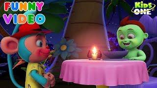 Greeny Kiddo Dinner Time | KidsOne| Funny videos for kids