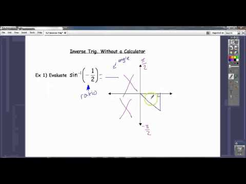 Evaluating Inverse Trig Functions Without a Calculator