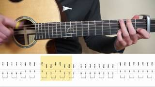 The Chainsmokers & Coldplay - Something Just Like This - Fingerstyle Guitar TABS Tutorial (Lesson)