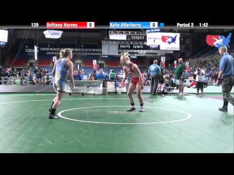 Fargo 2012 139 Round 2: Brittany Harvey (Michigan) vs. Kylie Atterburry (Oregon)