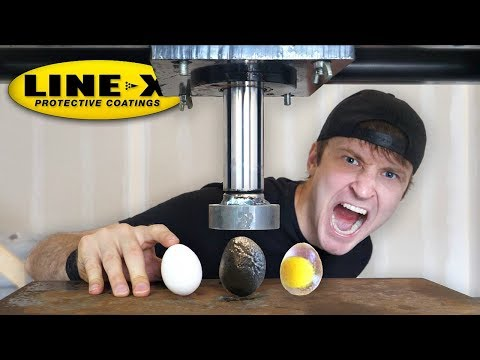 LINE X EGG vs HYDRAULIC PRESS LINE X EGG EXPERIMENT As Seen On TV Test