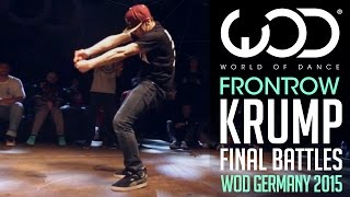 Krump Final Battle | FRONTROW | World of Dance Germany Qualifier 2015 | #WODGER2015