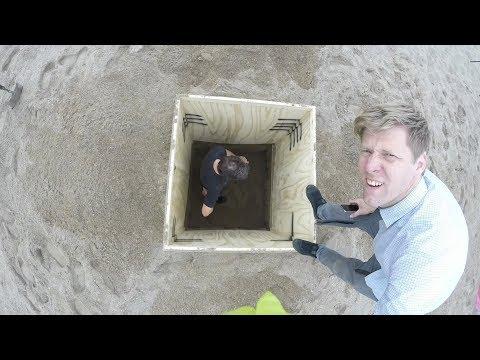 Underground Beach Hut Build