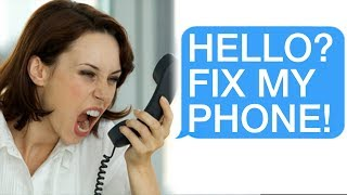 """r/Talesfromtechsupport """"HELLO? FIX MY PHONE!"""" """"Ma"""