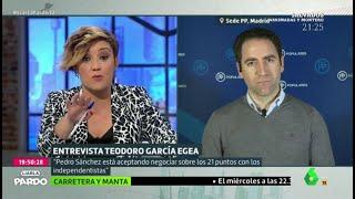 El zasca de Cristina Pardo a Teodoro García Egea