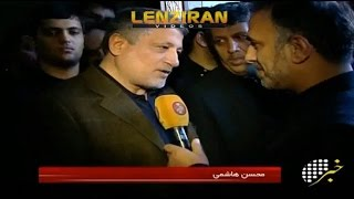 Iranian TV try to show Rafsanjani family satisfied , despite preventing IRIB director in the funeral