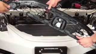 Front JDM Honda Red H Emblem Install - Civic Sedan Si 2012 2013 2014 2015