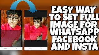 How to set full size profile picture in facebook,whatsapp,instagram (no cropping)