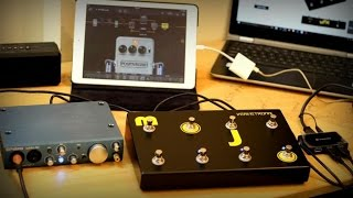 VerveTronics Mojo (midi foot controller) with Ipad and Bias Fx