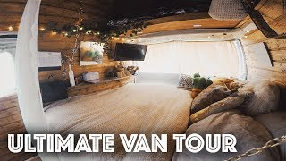 Girl Built A 7m² Van Into A Cozy Off Grid Home To Travel The World | Tour UPDATE |