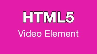 HTML5 Video Element in Background of Div Tutorial