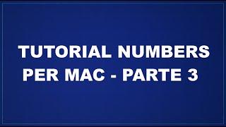 Tutorial Numbers per Mac - Parte 3 - Le Formule