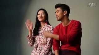 150925 Liuwen & Choi Siwon at 2016 H&M Chinese New Year Campaign