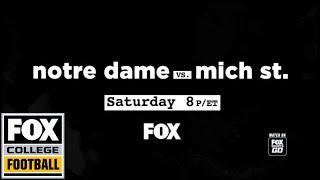Notre Dame vs. Michigan State | FOX COLLEGE FOOTBALL